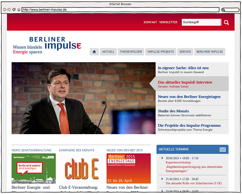 Desktop Screenshot - www.berliner-impulse.de