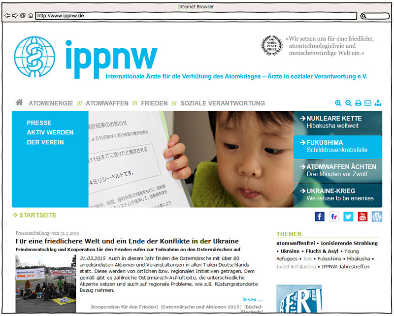Screenshot - www.ippnw.de