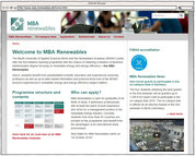 Screenshot - MBA Renewables - Startseite